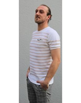 T-Shirt mit braunen Streifen