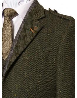 Pearse Green Heringbone Tweed Jacket