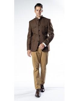 Nerhu Brown Tweed Heritage Jacket