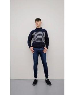Breton Sweater, 100% Schurwolle