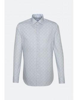 Hemd mit dunkelblauem Muster regular