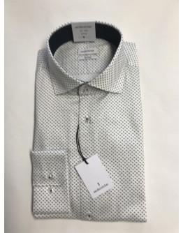 Hemd weiss mit schwarzen Punkten